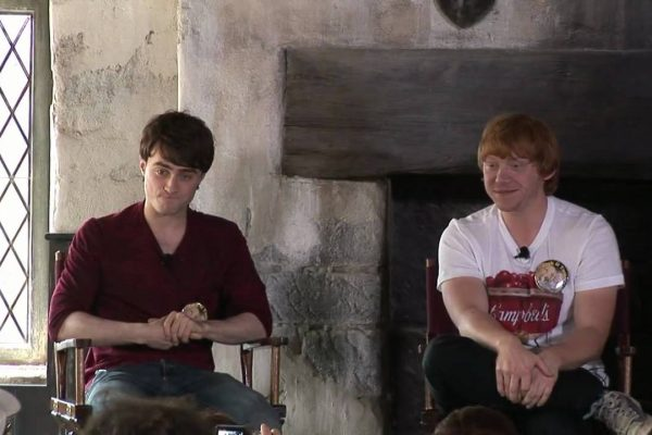 Rupert Grint, the lead stars of the Harry Potter